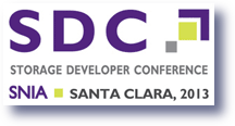 Storage Developers Conference 2013